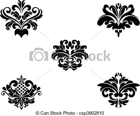 450x373 Flower Patterns And Borders For Design And Ornate.