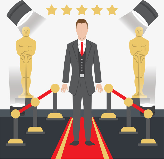 650x629 Cute Oscar Film Festival Vector Cartoon, Film Vector, Cartoon