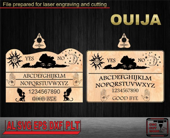 570x463 Ouija. Spirit Board Vector. Laser Cutting And Engraving. Board Etsy