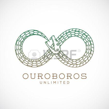 450x450 Abstract Vector Infinite Ouroboros Snake Symbol, Sign Or A Logo