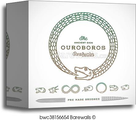 443x390 Canvas Print Of Abstract Vector Infinite Ouroboros Snake Symbol