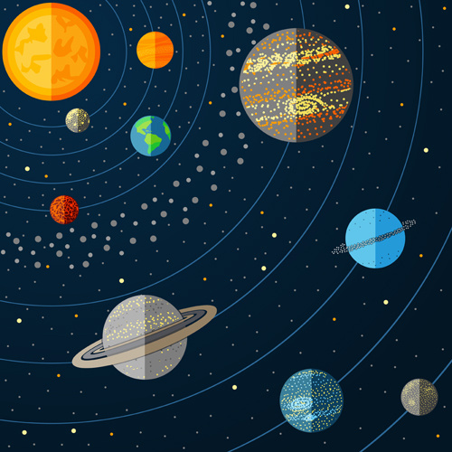 500x500 Outer Space Cartoon Background Vector Free Vector In Encapsulated