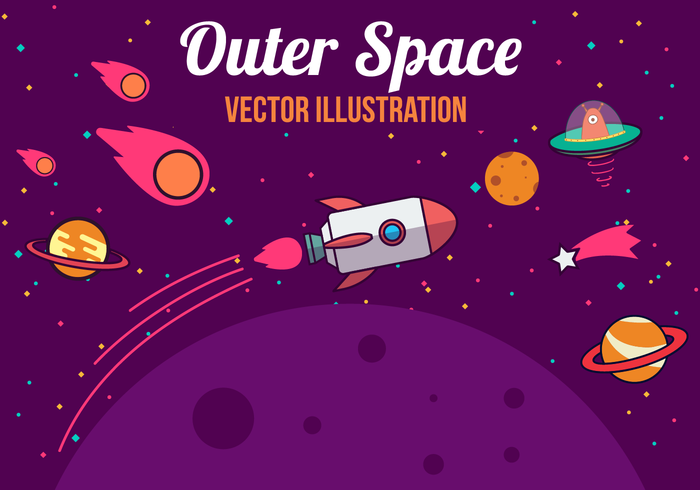 700x490 Space Vector Illustration