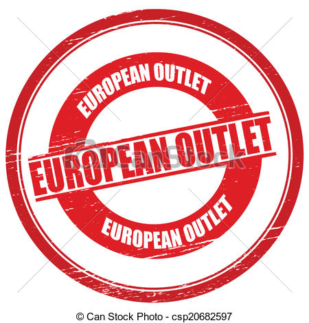 450x470 European Outlet. Stamp With Text European Outlet Inside,vector