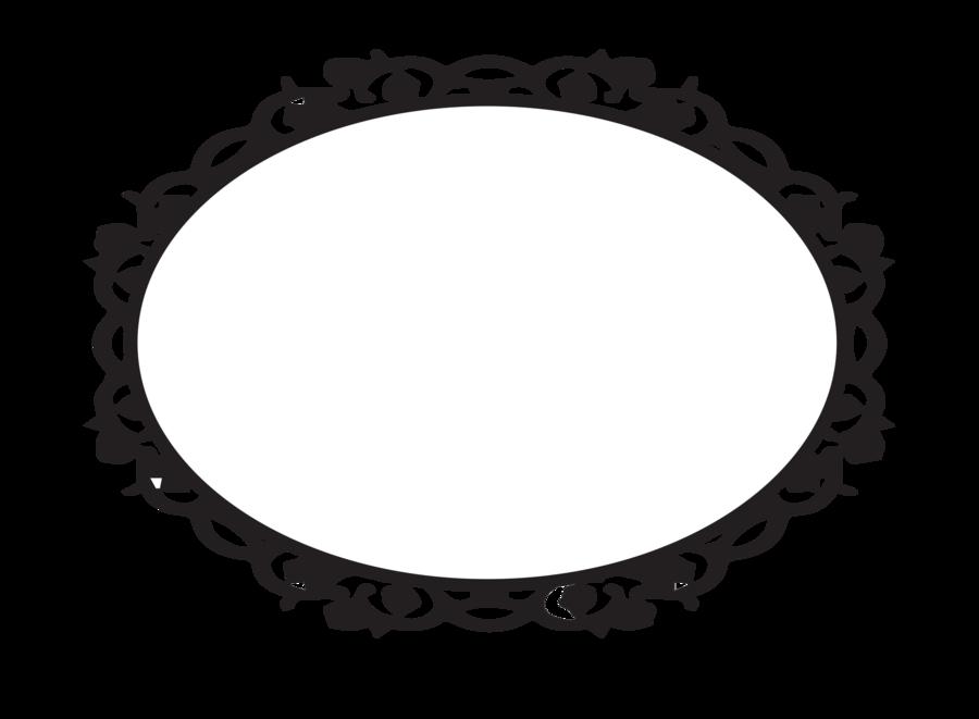 Oval Border Vector