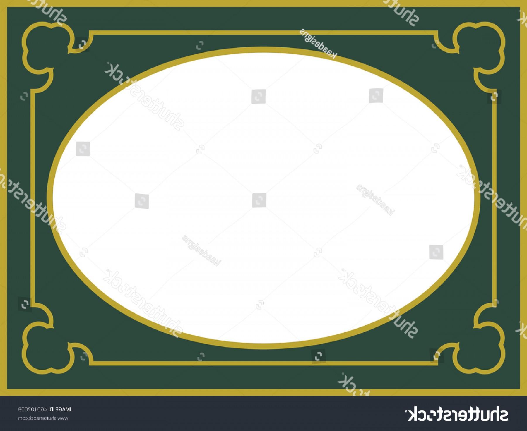 1800x1473 Green Oval Frame Border Vector Vintage Createmepink