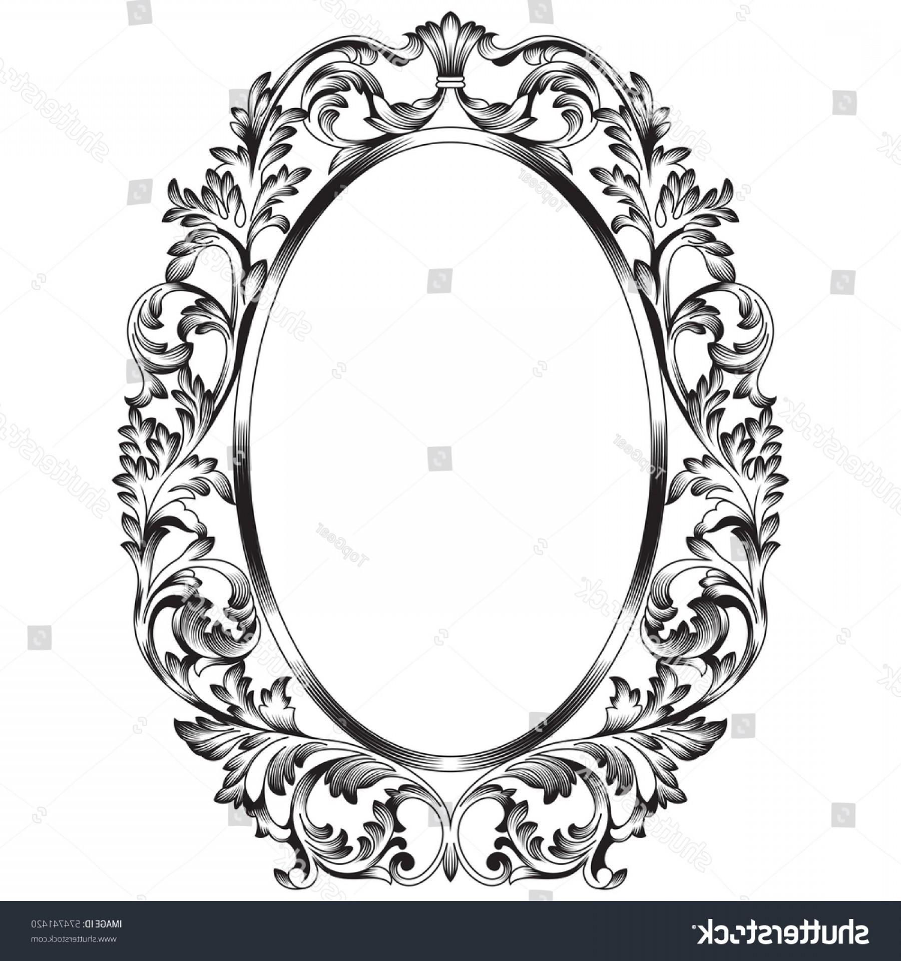1800x1920 Oval Vintage Border Frame Engraving Retro Lazttweet
