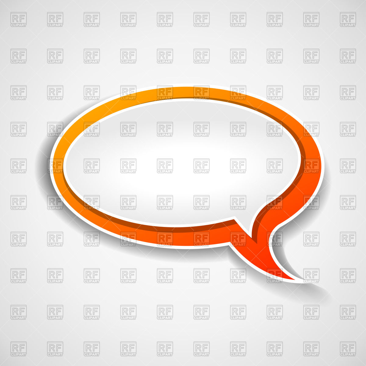 1200x1200 Oval Speech Bubble With Orange Border Vector Image Vector