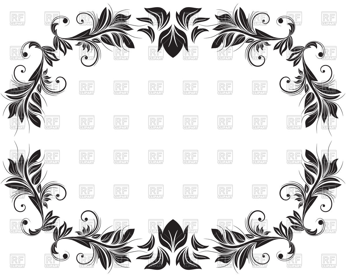 1200x960 Floral Oval Frame Vector Image Vector Artwork Of Borders And