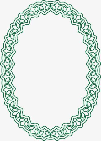 329x457 Green Oval Frame Vector, Green Vector, Frame Vector, Vector Png