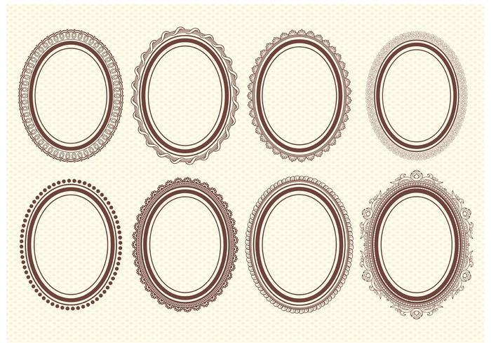 700x490 Oval Frame Free Vector Art