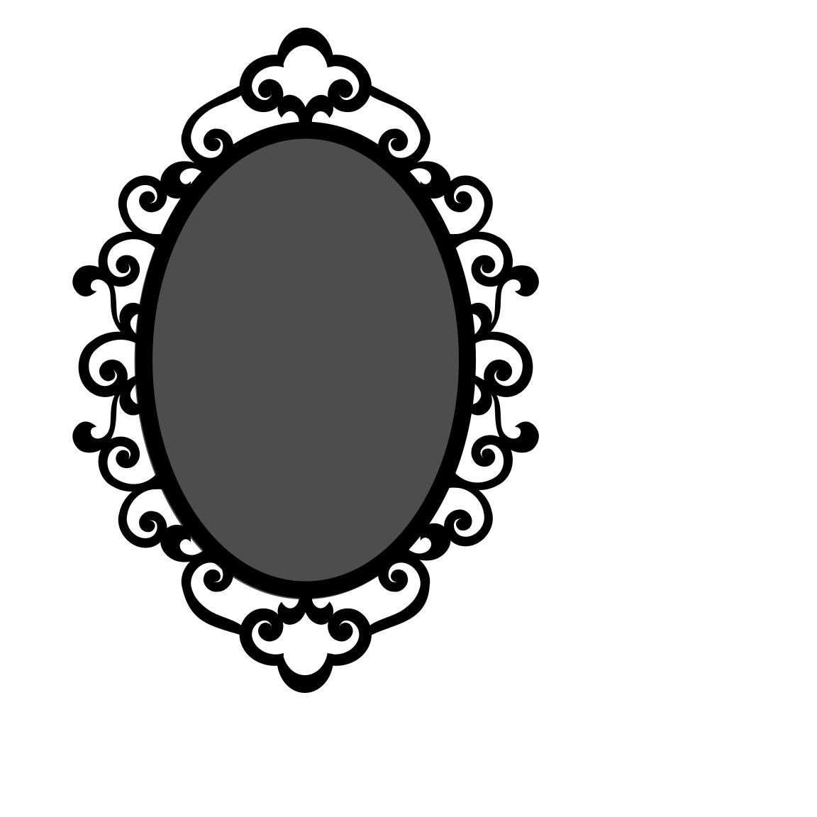1152x1152 Oval Frame Vector Clipart