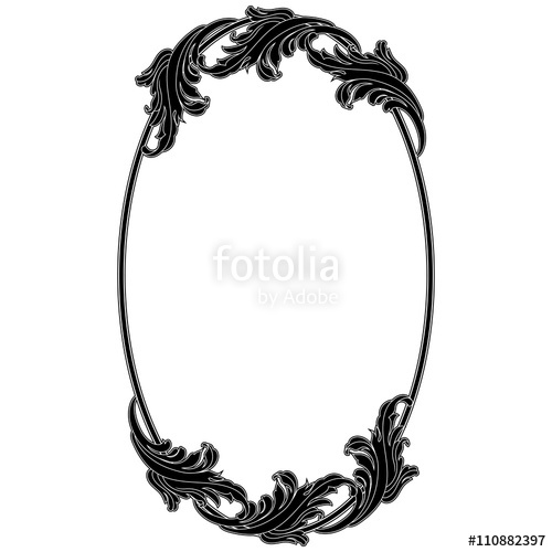500x500 Oval Vintage Frame. Vector. Stock Image And Royalty Free Vector
