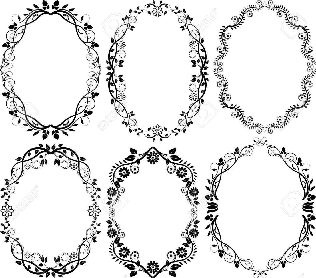 1300x1147 Vector Oval Shape Photo Frame Clipart Collection