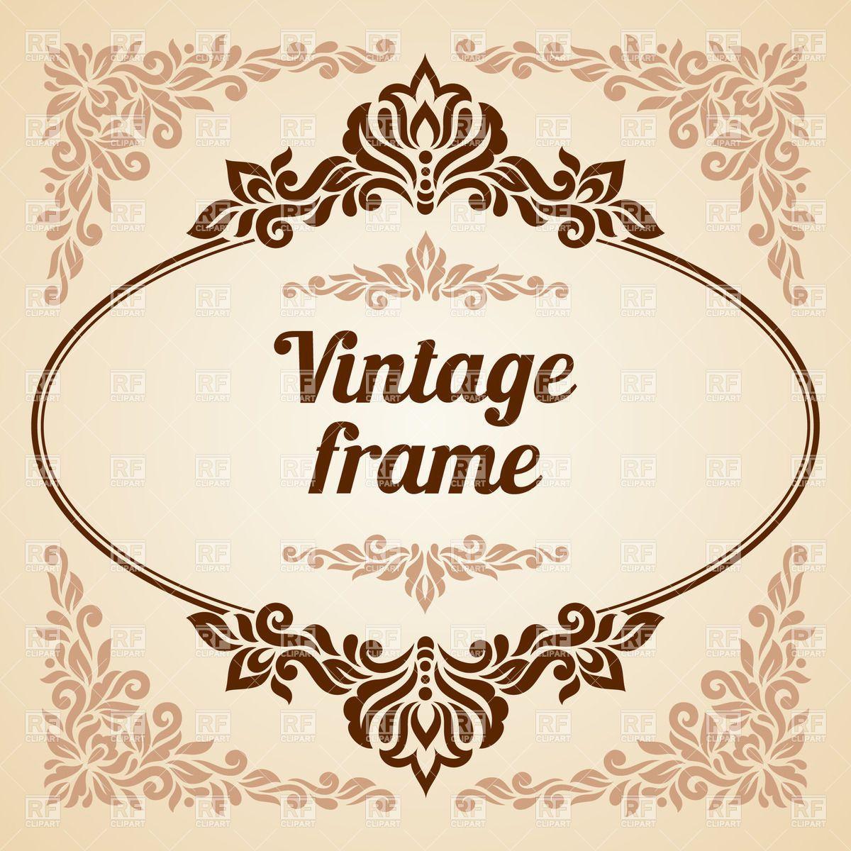 1200x1200 Vintage Oval Frame Vector Free