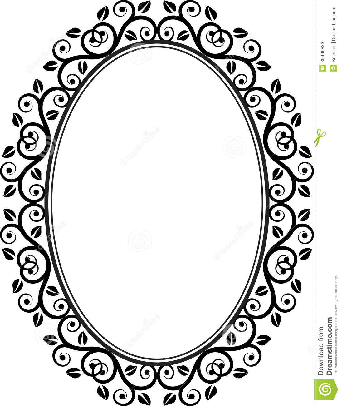 1096x1300 Floral Oval Frame
