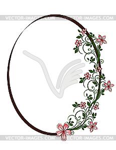 231x300 Floral Oval Frame