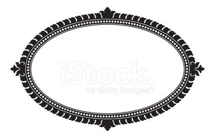 312x200 Ornate Oval Panel (Vector) Stock Vectors