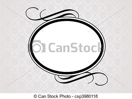 450x340 Oval Borders Clip Art Vector And Illustration. 3,937 Oval Borders