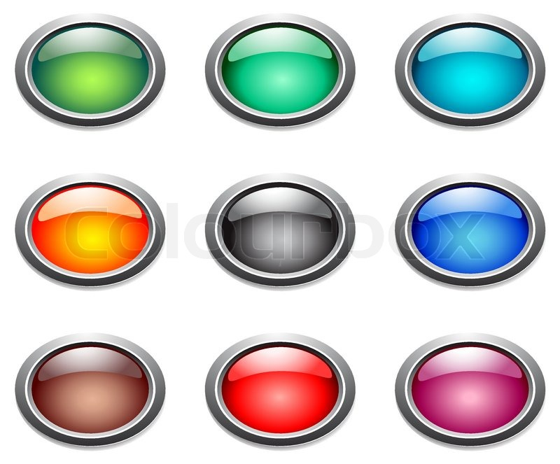 800x663 Vector Oval Color Buttons. Stock Vector Colourbox