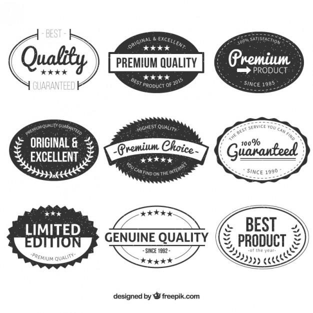 626x626 Vintage Oval Premium Quality Labels Vector Premium Download