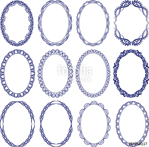500x494 Oval Border Stock Image And Royalty Free Vector Files On Fotolia