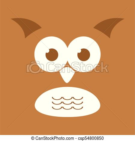 450x470 Cute Owl Face Background Illustration. Cute Owl Face Background