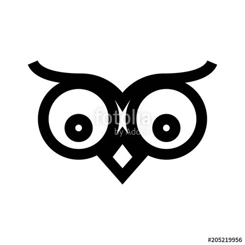 500x500 Owl Face Logo Stock Image And Royalty Free Vector Files On
