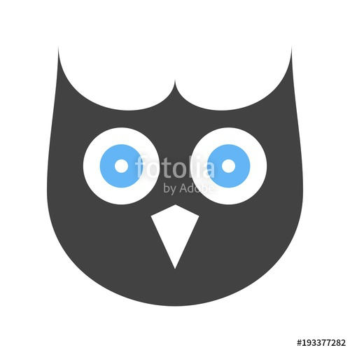 500x500 Owl Face Icon Stock Image And Royalty Free Vector Files On