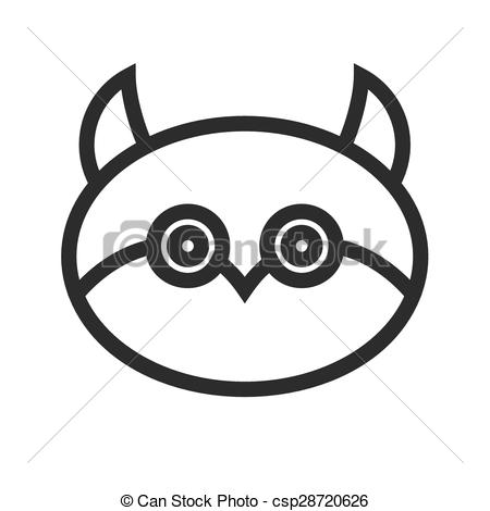 450x470 Owl Face. Owl, Night, Halloween Icon Vector Image.can Also Be Used