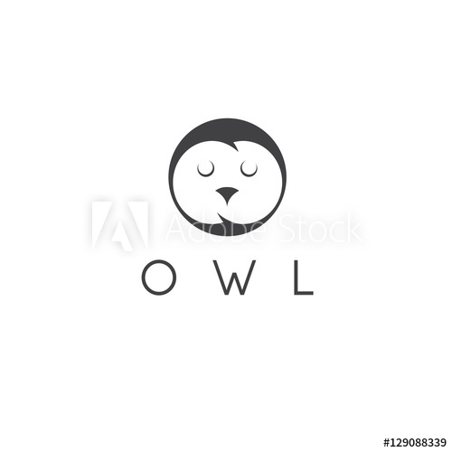 500x500 Vector Illustration Concept Of Abstract Owl Face