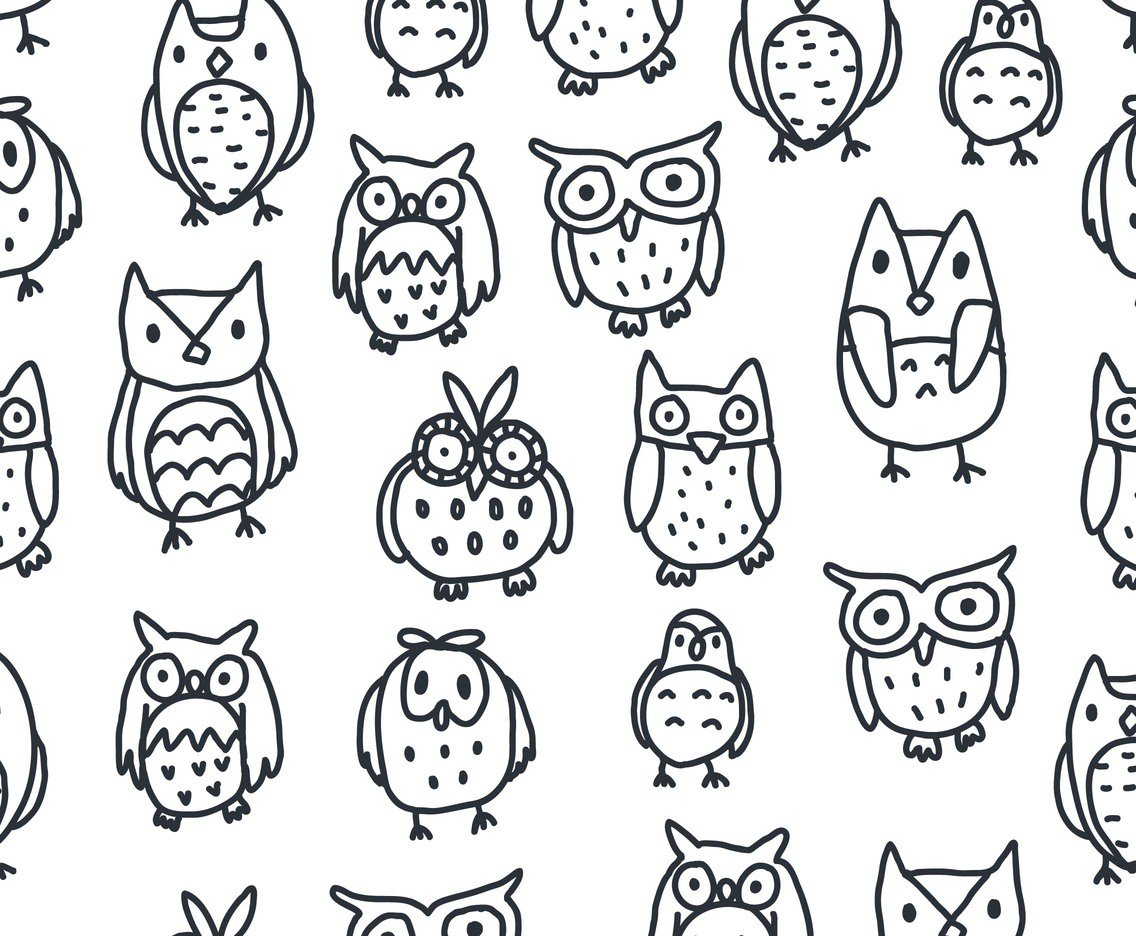1136x936 Black And White Owl Pattern Vector Vector Art Amp Graphics