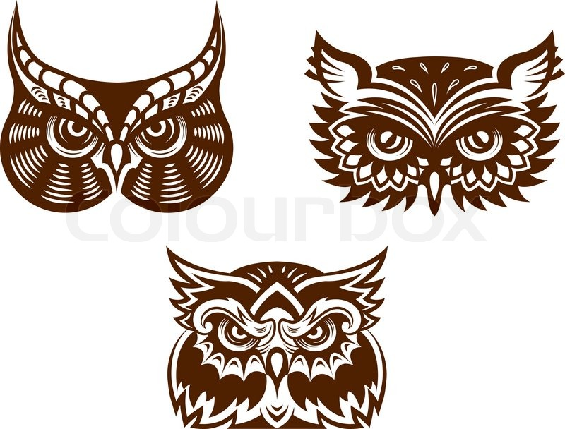 800x608 Brown And White Wise Old Owl Faces With Decorative Feather Detail