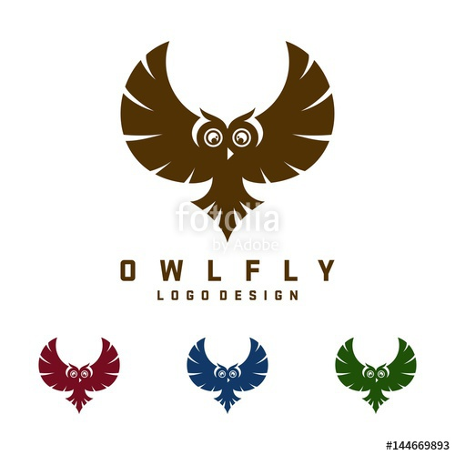 500x500 Owl Logo, Owl Fly Design Logo Vector Stock Image And Royalty Free
