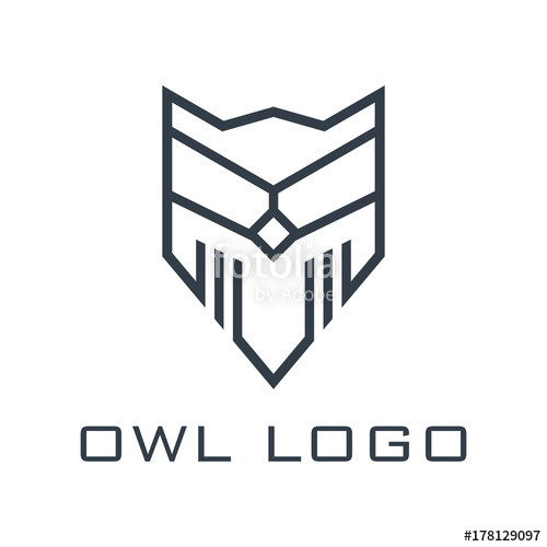 500x500 Owl Logo Line Design Logo Vector Stock Image And Royalty Free