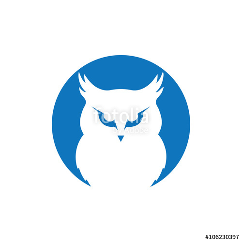 500x500 Owl Logo Stock Image And Royalty Free Vector Files On
