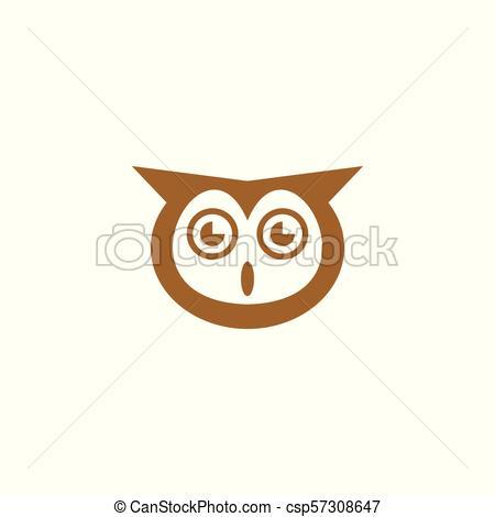 450x470 Owl Logo Design. Owl Head Icon, Bird Logo, Vector Icons.