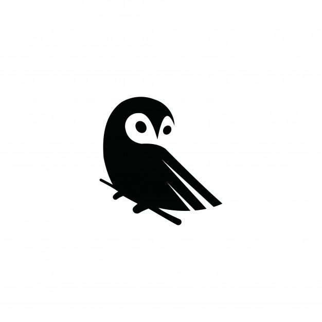 626x626 Owl Logo Vector Graphic Minimalist Outline Art Vector Premium