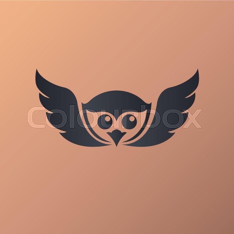800x800 Owl Logo Vector Illustrations Stock Vector Colourbox