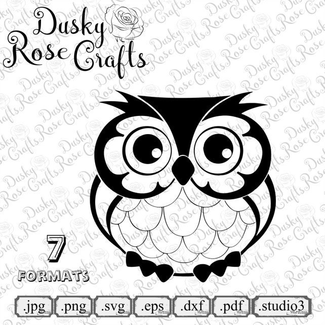 642x642 Owl Vector .svg .eps .dxf .png .jpg .pdf .studio3 For Cutting Etsy