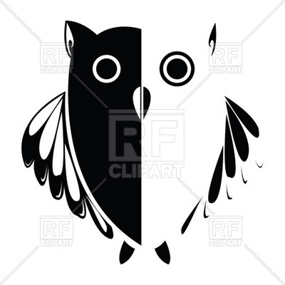400x400 Stylized Symbolic Owl Vector Image Vector Artwork Of Plants And