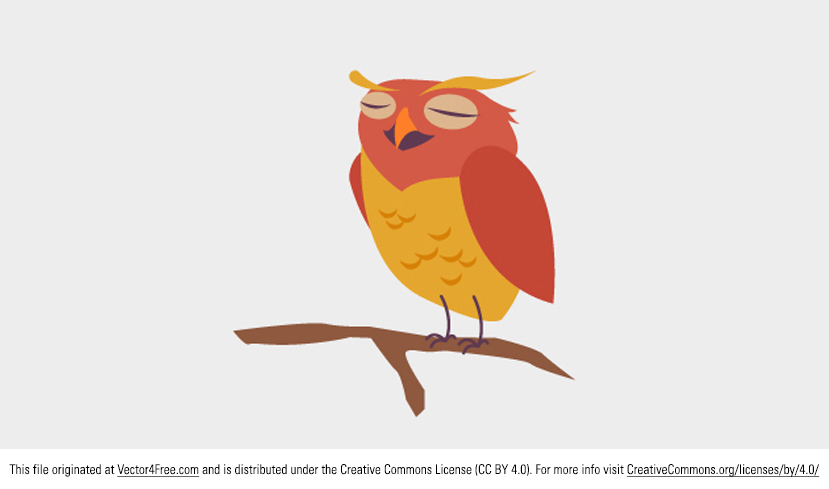 829x489 Free Cute Owl Vector
