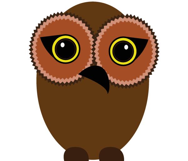 600x515 Free Owl Vector Art 123freevectors