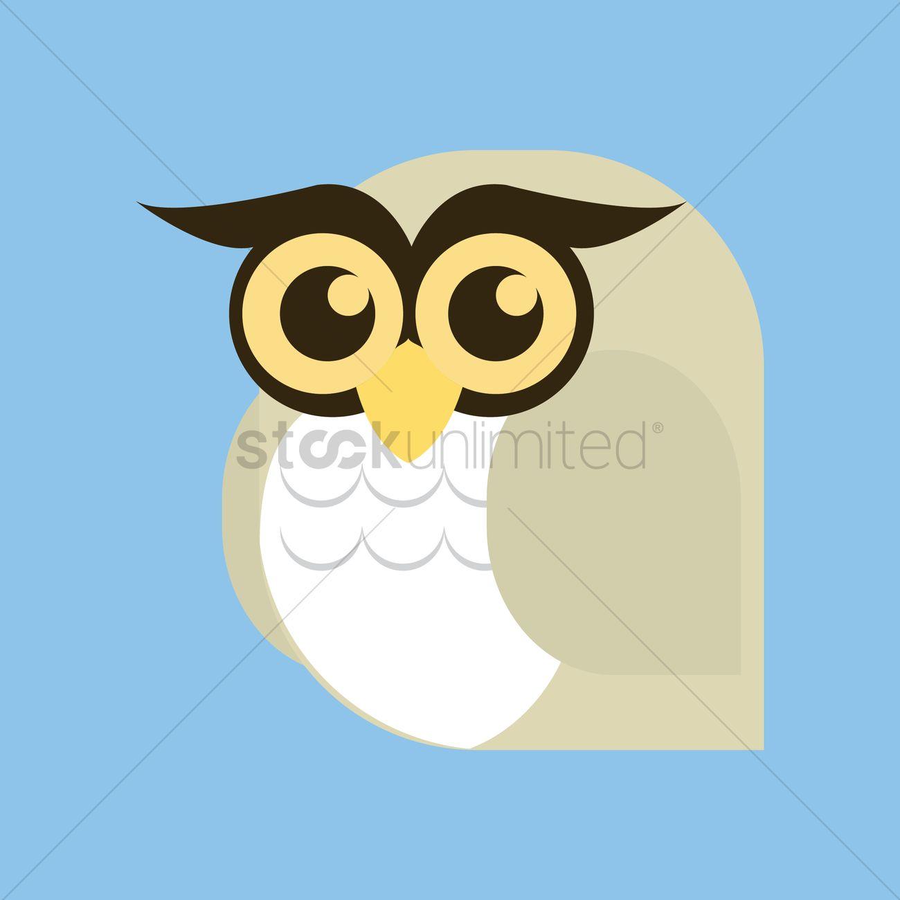 1300x1300 Free Owl Vector Image