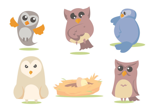 632x443 Barn Owl Vector Set Free Vector Download 329483 Cannypic