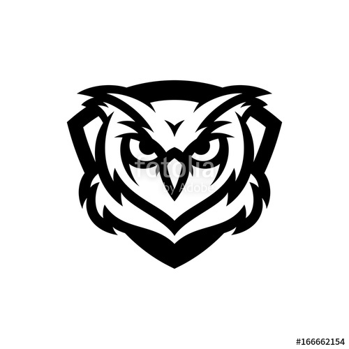 500x500 Owl Vector Logo Illustration Stock Image And Royalty Free Vector