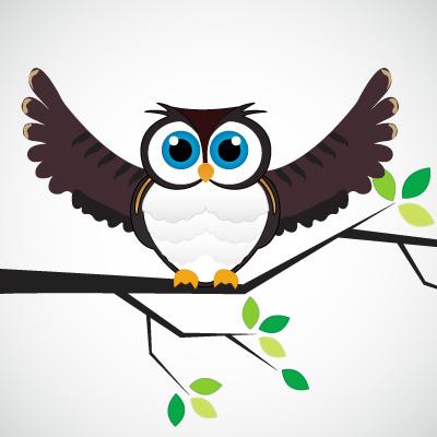 400x400 Vector Owl On A Branch Free Vectors Ui Download