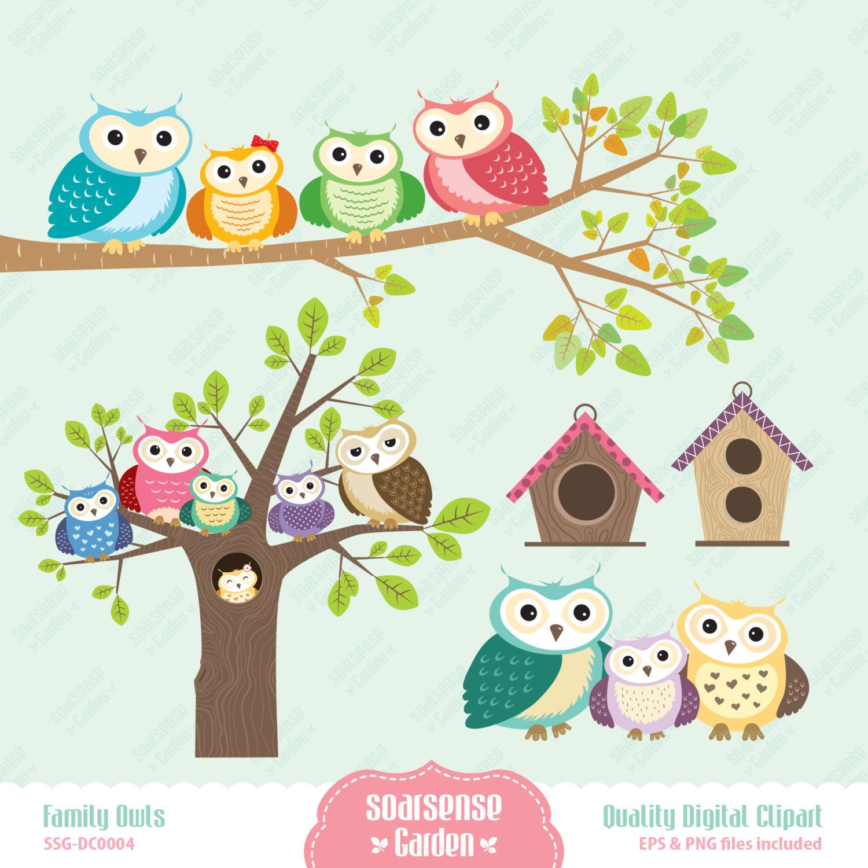 1500x1500 January Owl Vector Clipart