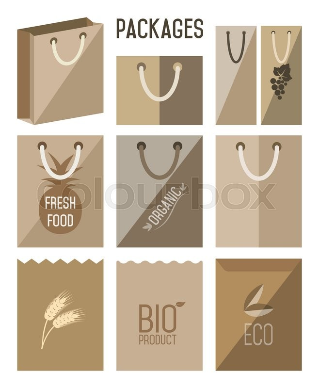 658x800 Bio Pack, Eco Pack. Carton Pack, Cartons Pack Icons. Biodegradable