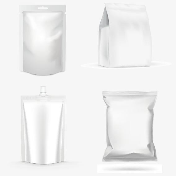 568x568 Four Plastic Snack Packaging Vector, Packaging Renderings, Bags